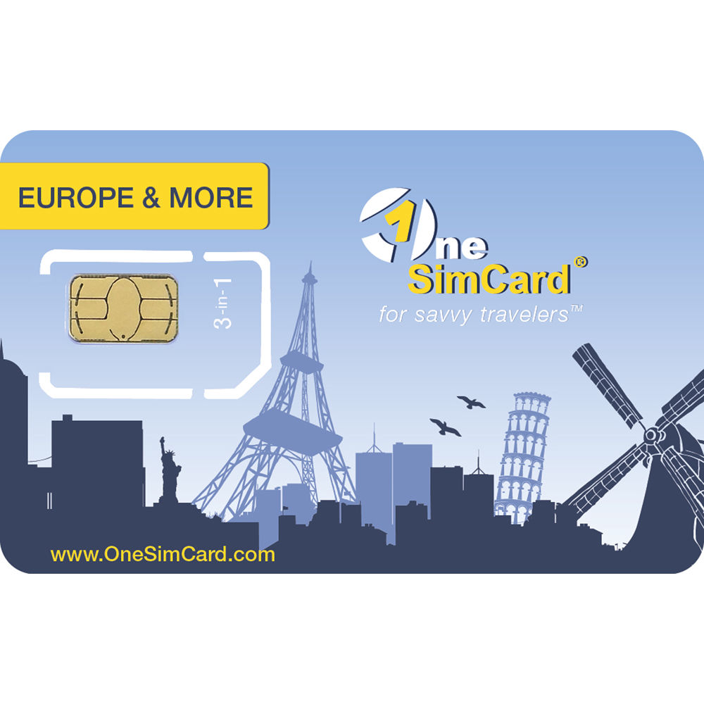 OneSimCard Europe & More Triple Combo SIM Card