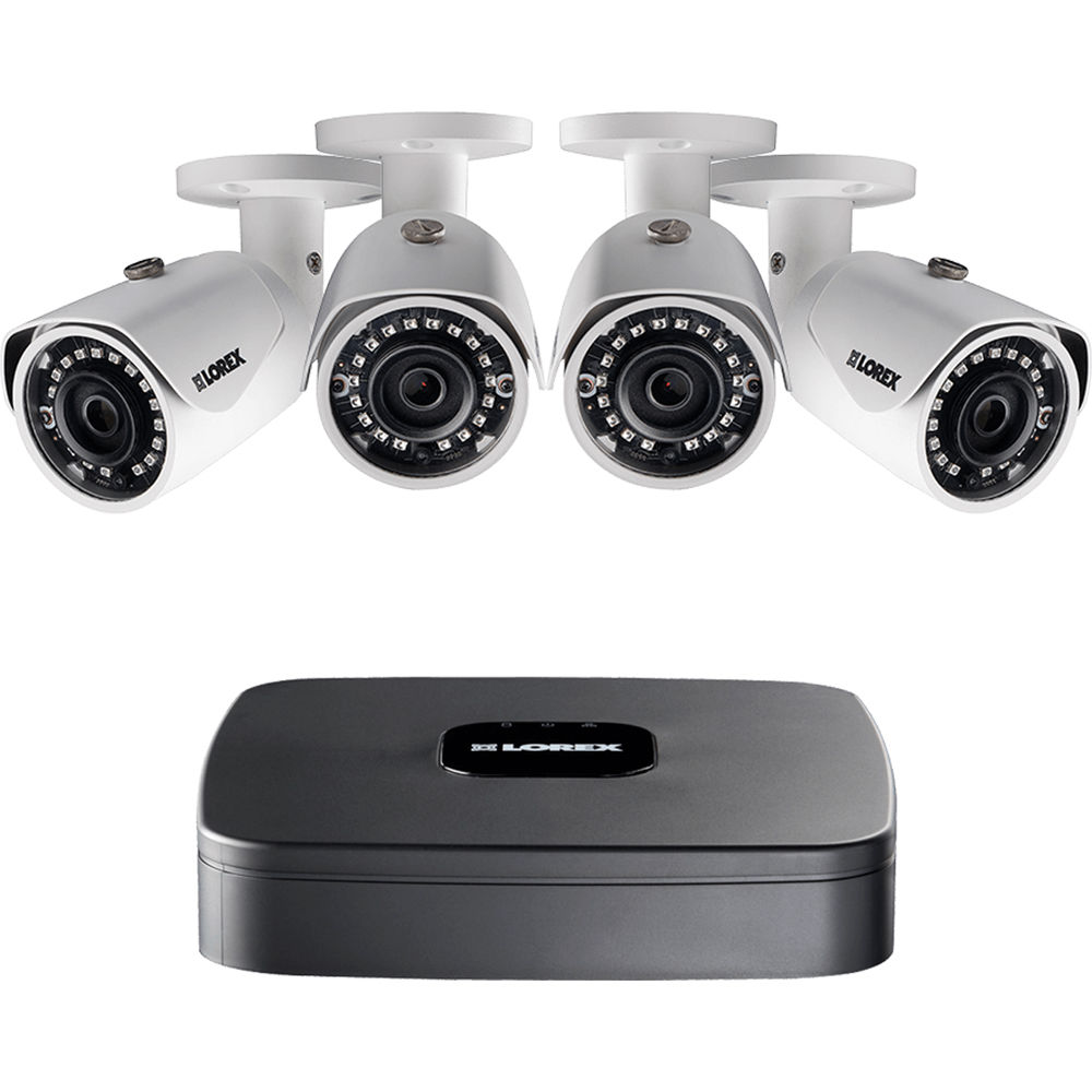 Lorex LNR110 Series 4-Channel 4MP NVR with 1TB HDD and 4 3MP Bullet Cameras