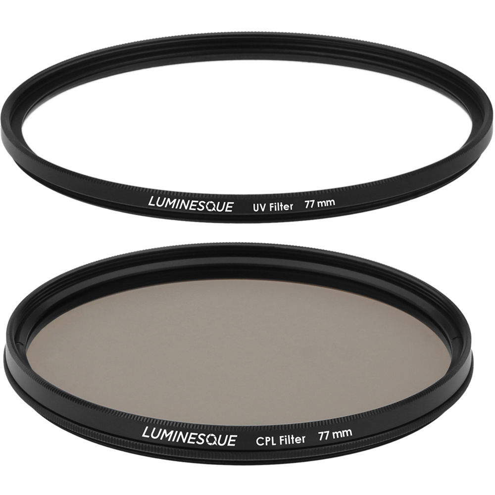 Acouto UV Slim Clear Lens Filter Polarizer Lens Kit Protector for Canon Cameras with Adapter 77MM UV Lens; Slim Lens Filter; Camera Polarizer Lens; Glass Lens Filter; Camera Lens Kit