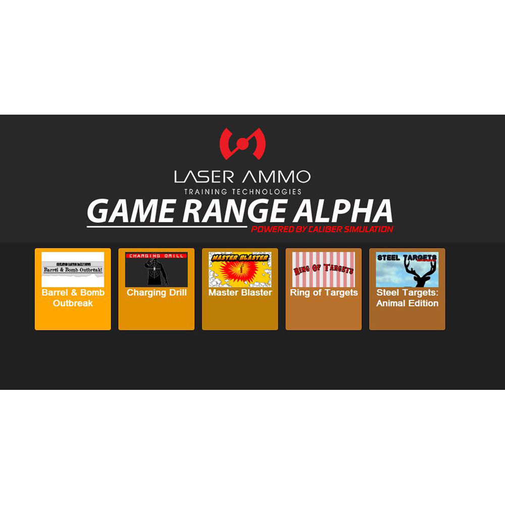 Laser Ammo Game Range Alpha 5-Game Add-On for Smokeless Range Simulator
