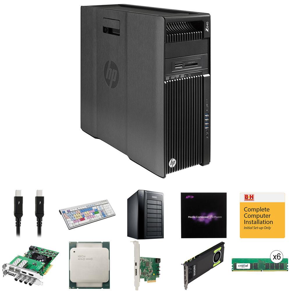 B&H Photo PC Pro Workstation Dual 2 2 GHz 12-Core / Media Composer 8 /  Quadro 8GB / DeckLink 4K Extreme / 64GB RAM / 24TB RAID / 512GB SSD