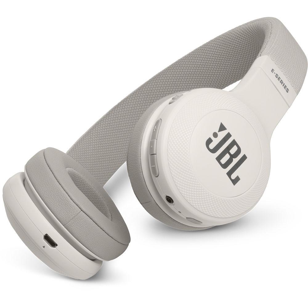 JBL E45BT Bluetooth On-Ear Headphones (White)