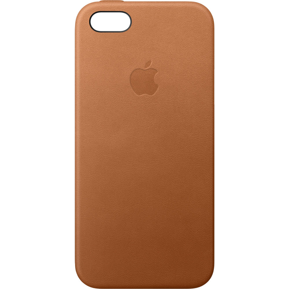 newest f7981 05f28 Apple iPhone 5/5s/SE Leather Case (Saddle Brown)