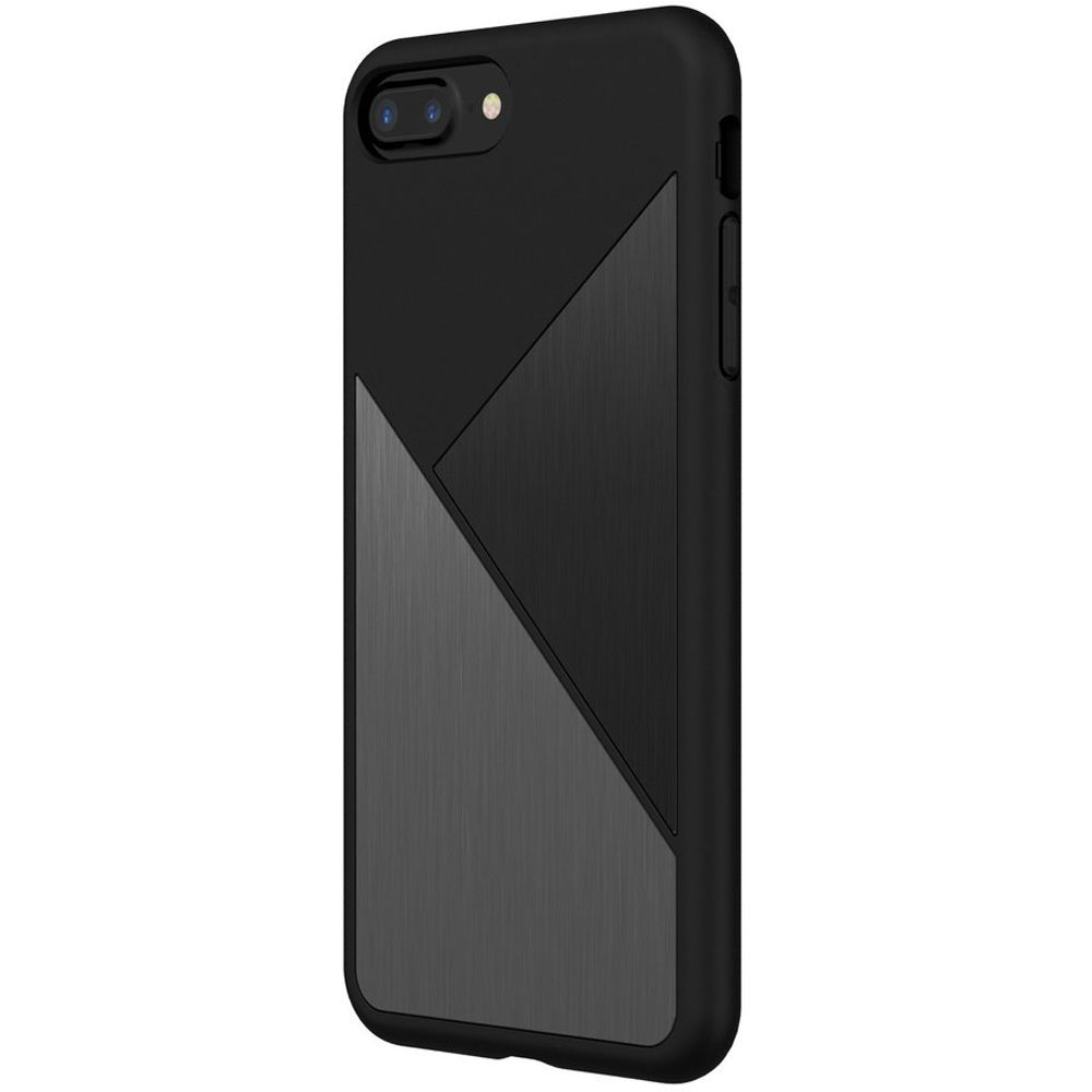 finest selection 65bb7 d239c RhinoShield SolidSuit Case for iPhone 7 Plus/8 Plus (Black Brushed Steel)