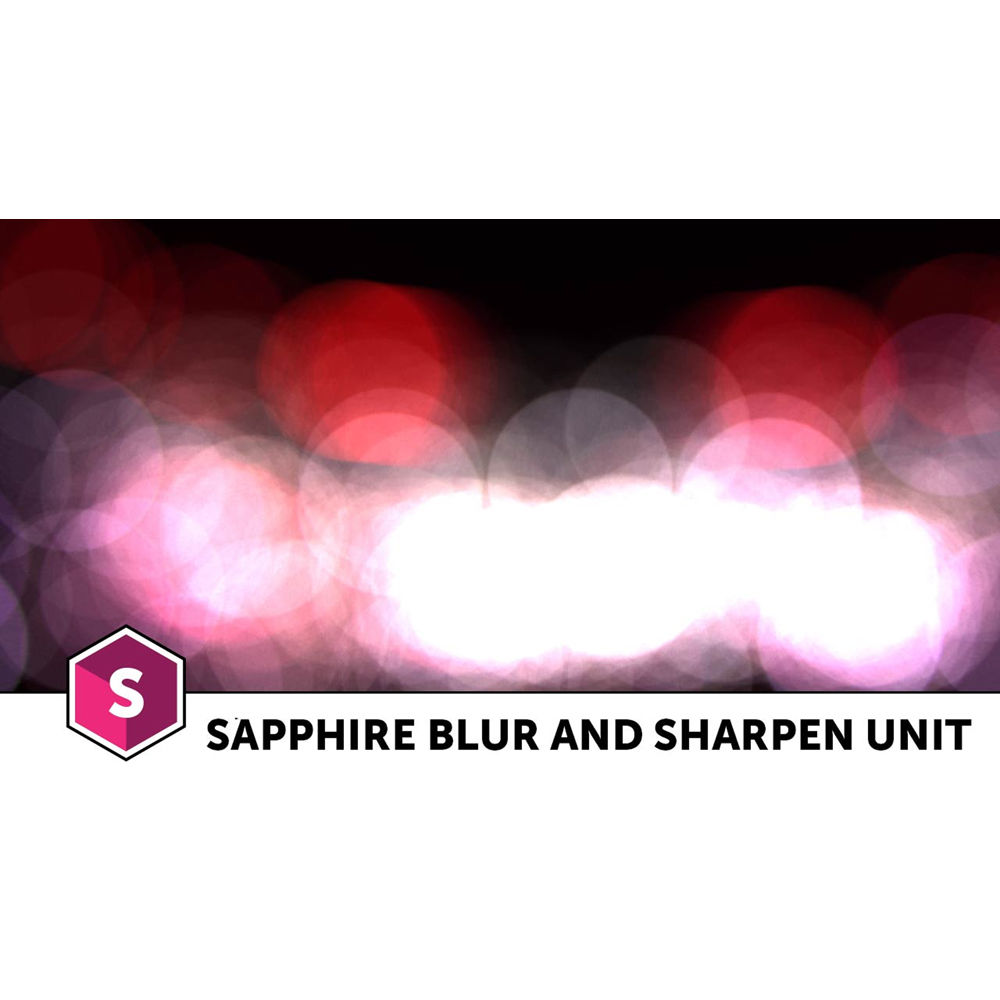 Boris FX Sapphire 11 Blur and Sharpen Unit (Download)