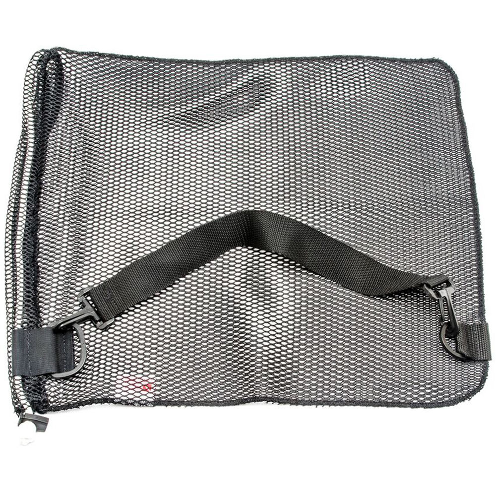 Innovative Scuba Concepts Econo Mesh Drawstring Bag With D Ring And Shoulder Strap Small 16 X 20 Black