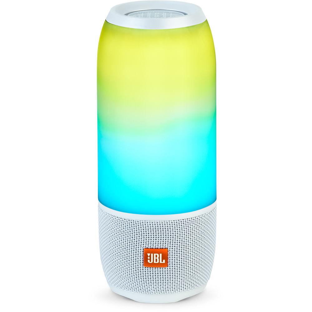 JBL Pulse 3 Portable Bluetooth Speaker (White)