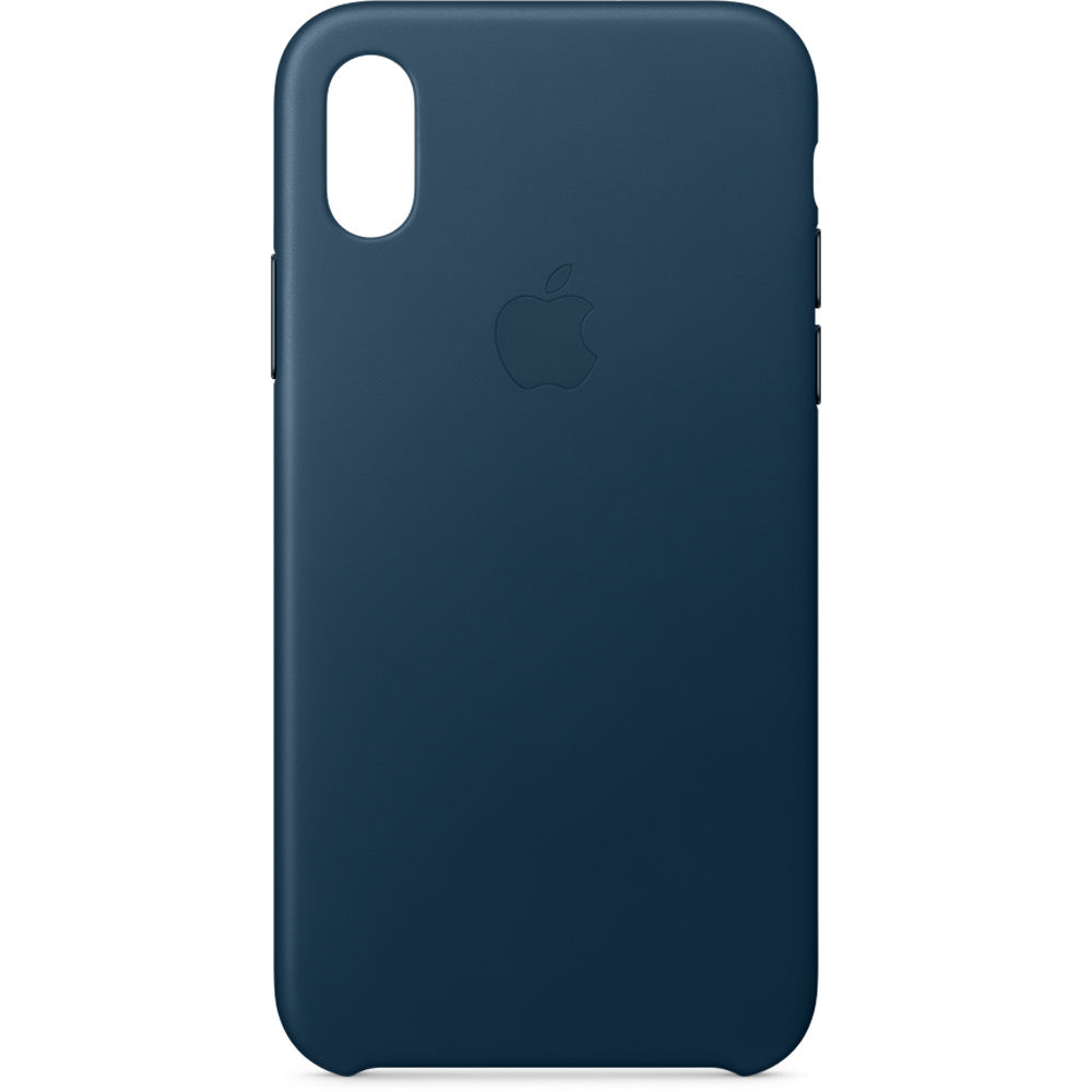save off ad46d 205eb Apple iPhone X Leather Case (Cosmos Blue)