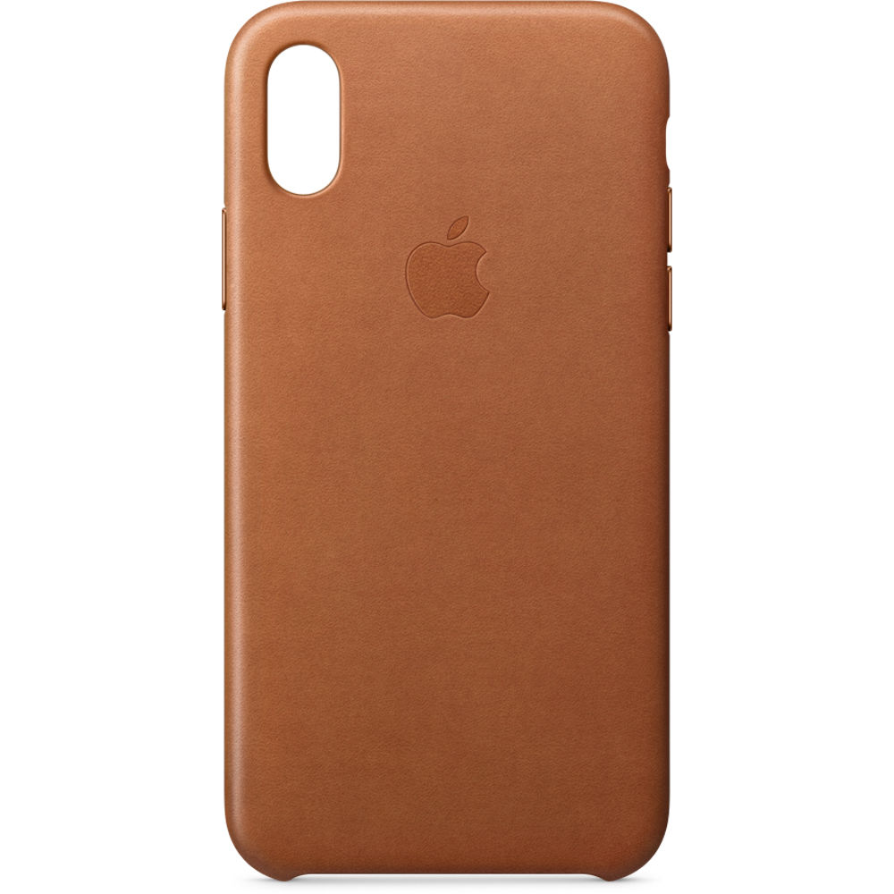 innovative design ec530 dd5d0 Apple iPhone X Leather Case (Saddle Brown)