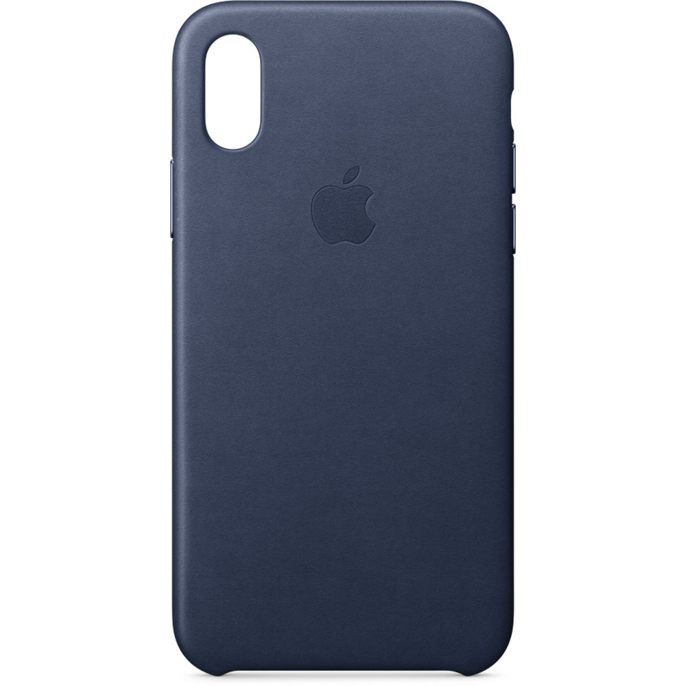 official photos 63874 c55b4 Apple iPhone X Leather Case (Midnight Blue)