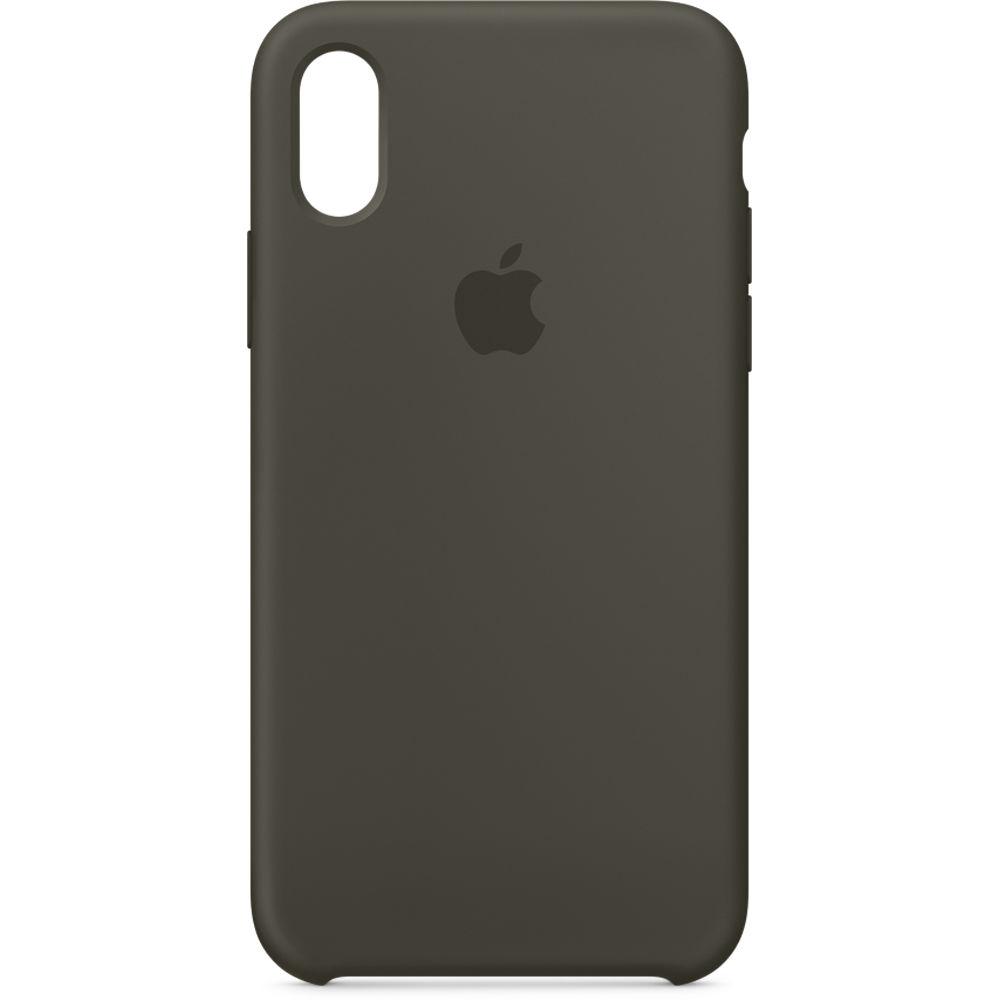 quality design b48d5 cfb10 Apple iPhone X Silicone Case (Dark Olive)