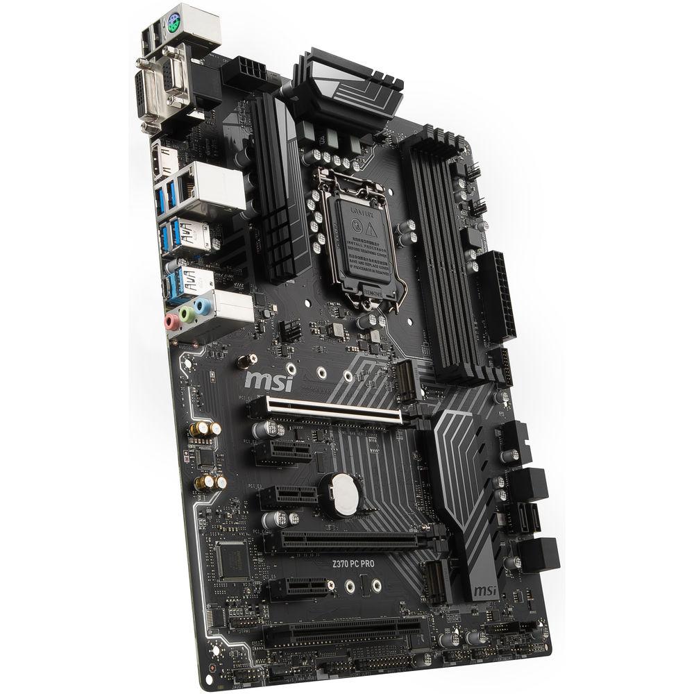 MSI Z370 PC Pro LGA 1151 ATX Motherboard