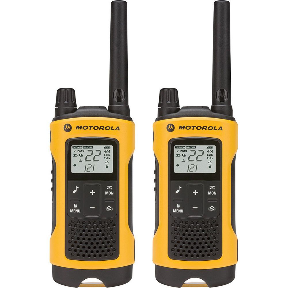 Motorola T402 Emergency Preparedness Edition 2-Way Radio (Yellow, 2-Pack)
