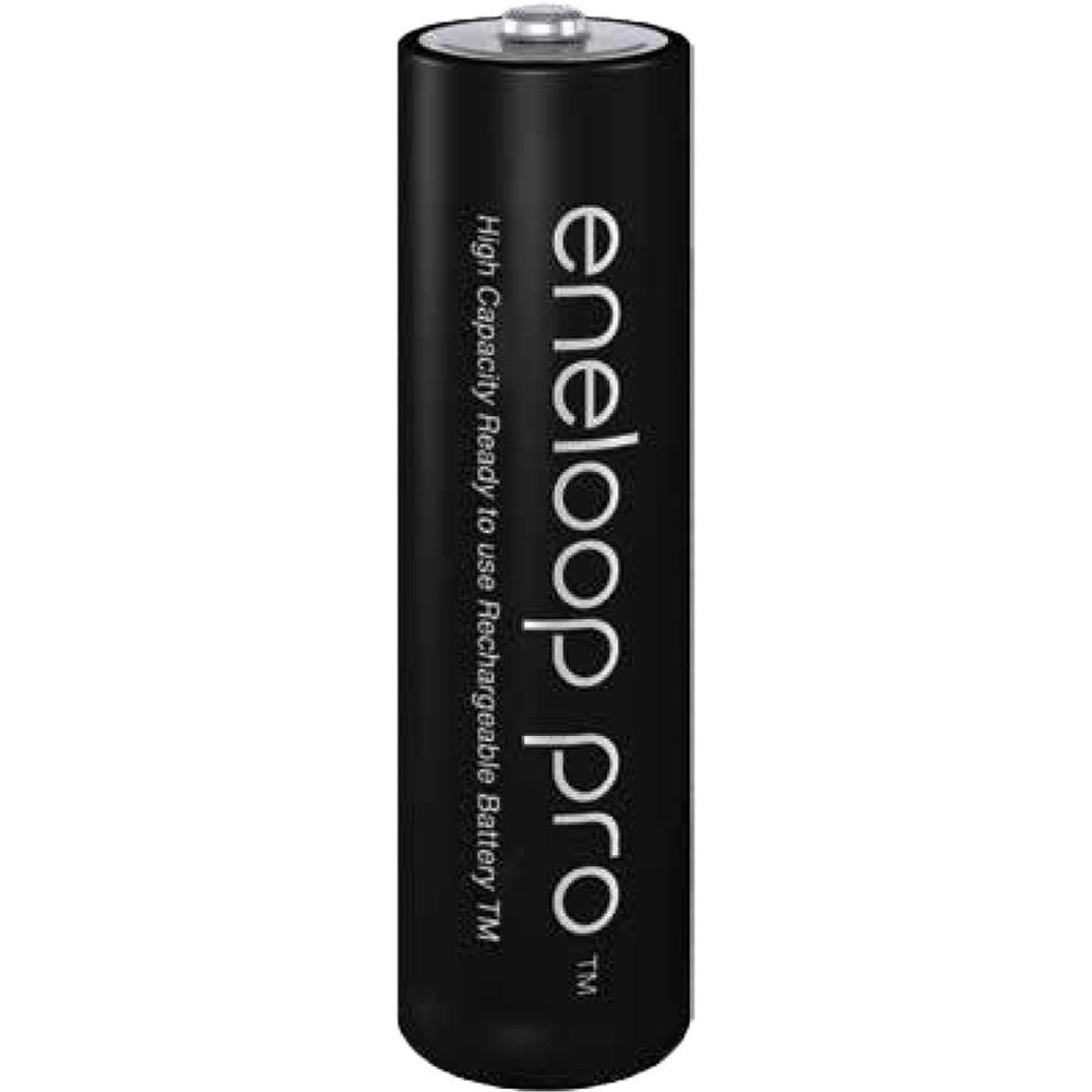 Eneloop Pro AA NiMH 2550mAh Rechargeable Battery Pack of 2 Min. 2450mAh