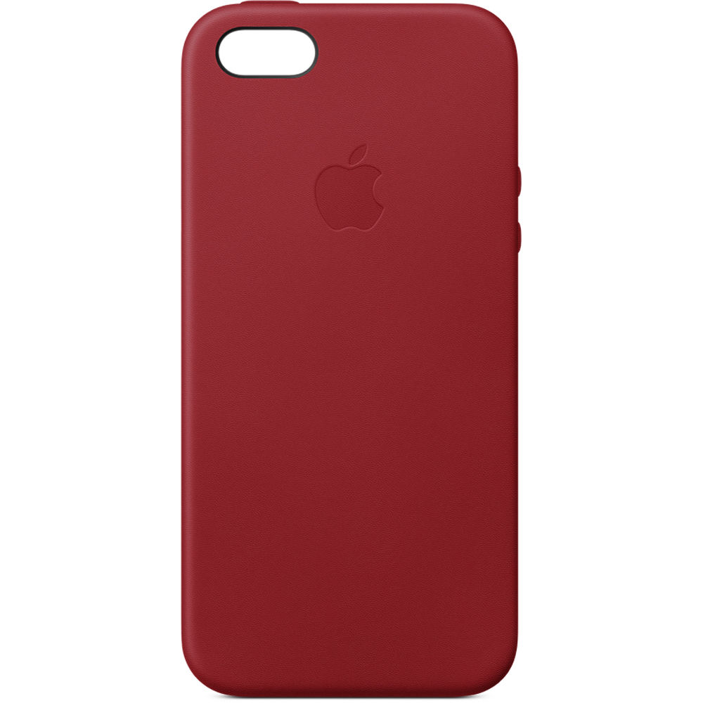 online retailer d1961 7feec Apple iPhone SE Leather Case ((PRODUCT)RED)
