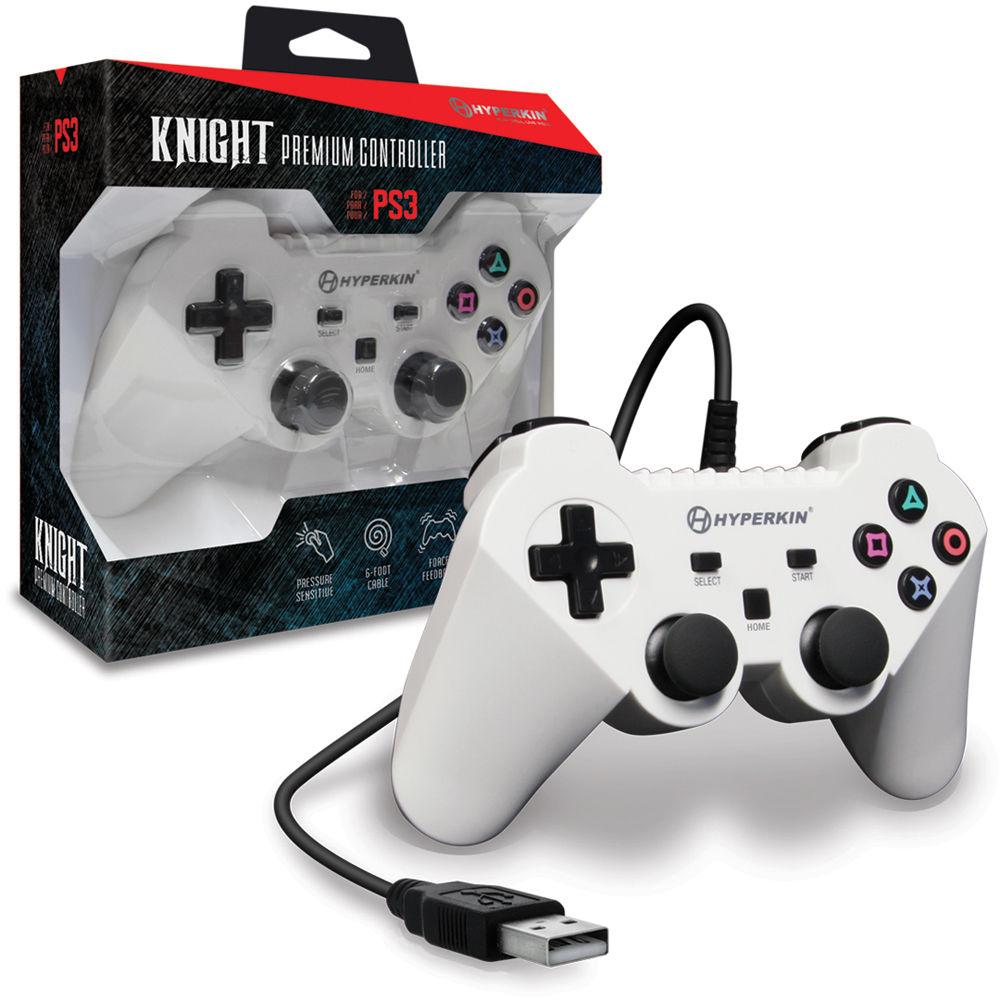 HYPERKIN Knight Premium Controller for PS3/PC/Mac (White)