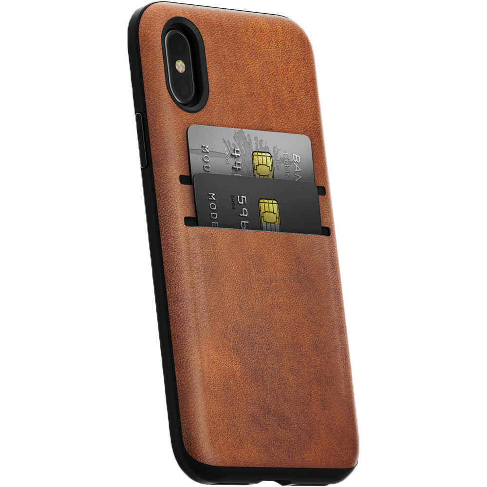 new styles 5eba7 424e1 Nomad Wallet Case for iPhone X (Rustic Brown)