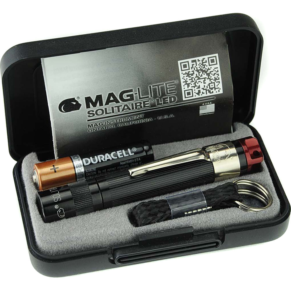 Details about  /MAGLITE 2 X SOLITAIRE FLASHLIGHT RED MADE IN USA