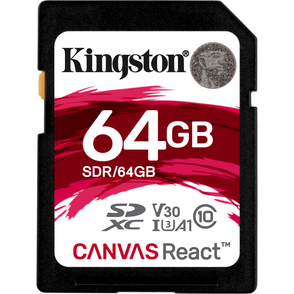 Kingston 64GB Canvas React UHS-I SDXC Memory Card