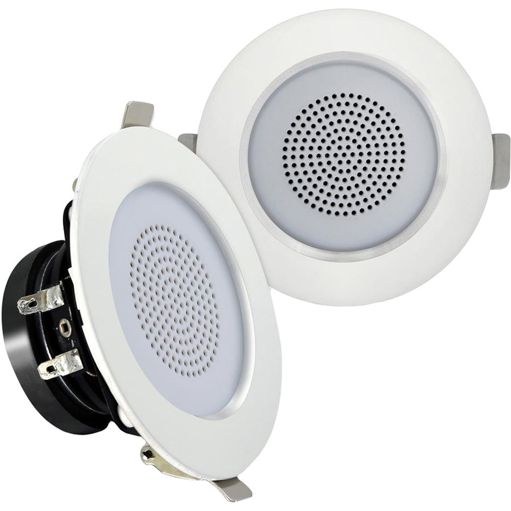 """Pyle PDIC3FR 3/"""" Ceiling 2-Way Aluminum Frame Wall Speakers 4 LOT OF"""