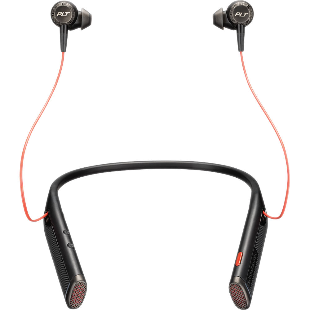 Plantronics Voyager 6200 UC Bluetooth Neckband Headset with USB Type-A  Adapter (Black)
