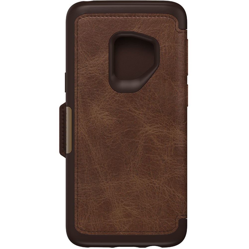 check out 9abe1 cf25b OtterBox Strada Series Folio Case for Samsung Galaxy S9 (Espresso)
