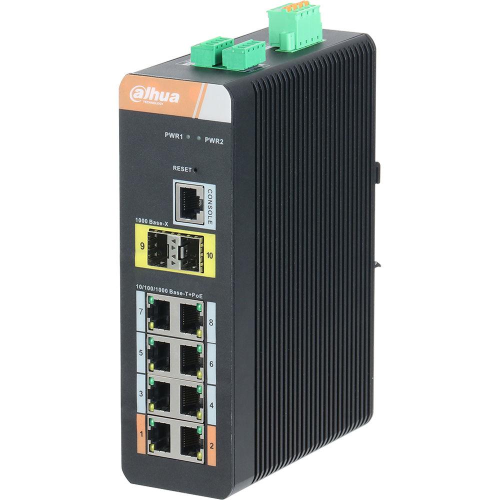 Dahua Technology DH-PFS4210-8GT-DP 10-Port DH-PFS4210-8GT-DP B&H