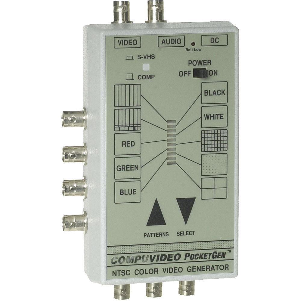 Compuvideo PocketGen 8 PAL Test Signal Generator, Multiple Patterns,  Composite, Component, Y/C, RGBS, Balanced Audio Tone