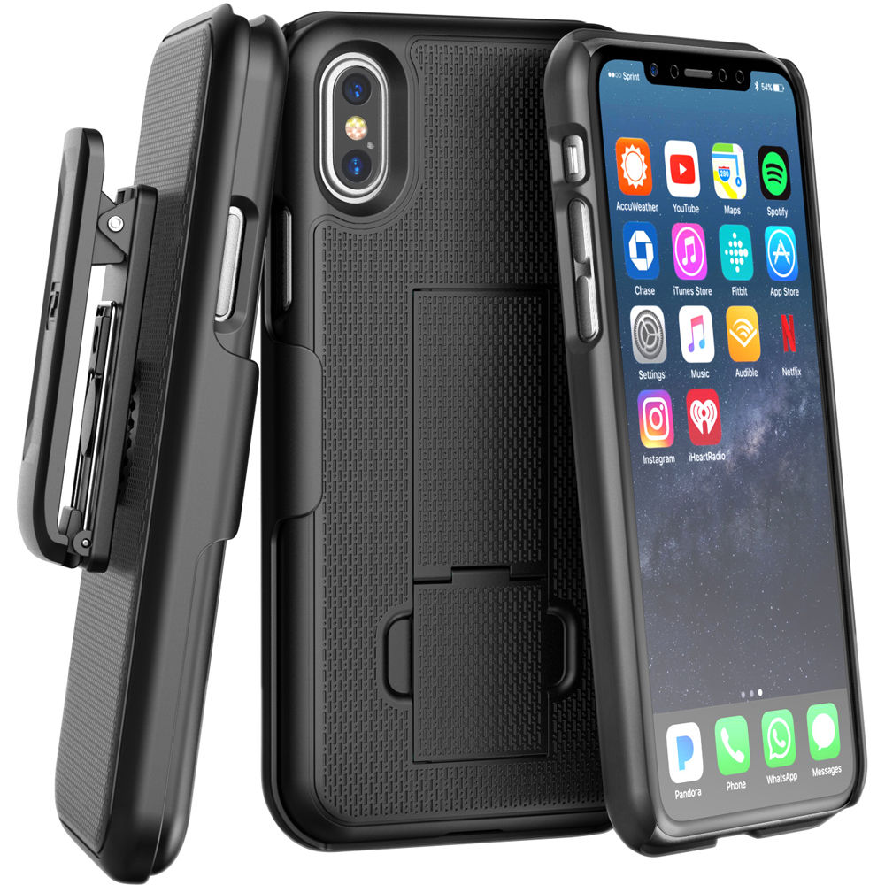 new concept ce810 b1ed4 Encased DuraClip Series Slim Fit Case with Belt Clip Holster for iPhone X/Xs