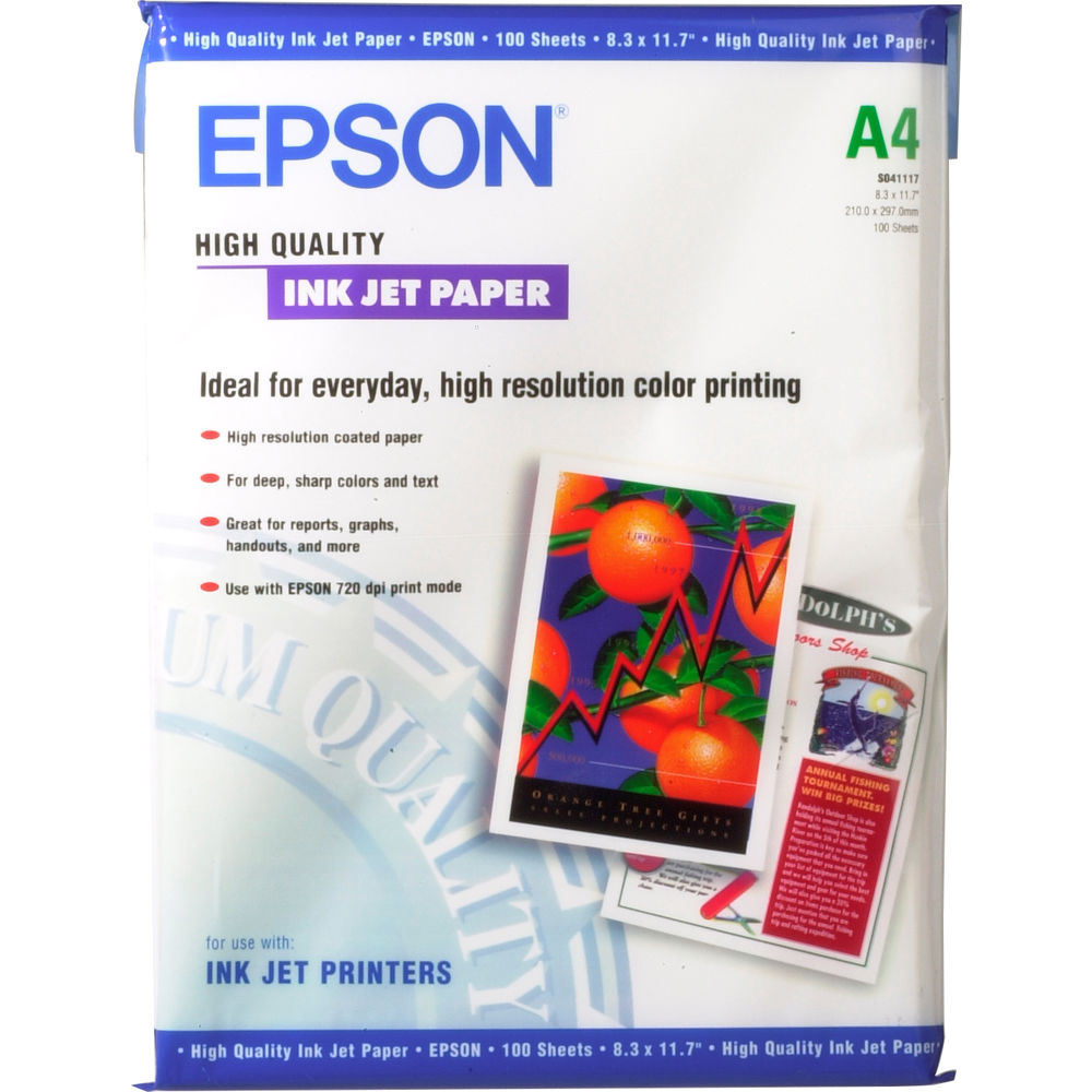 Epson High Quality Inkjet Paper (A4 8 3 x 11 7