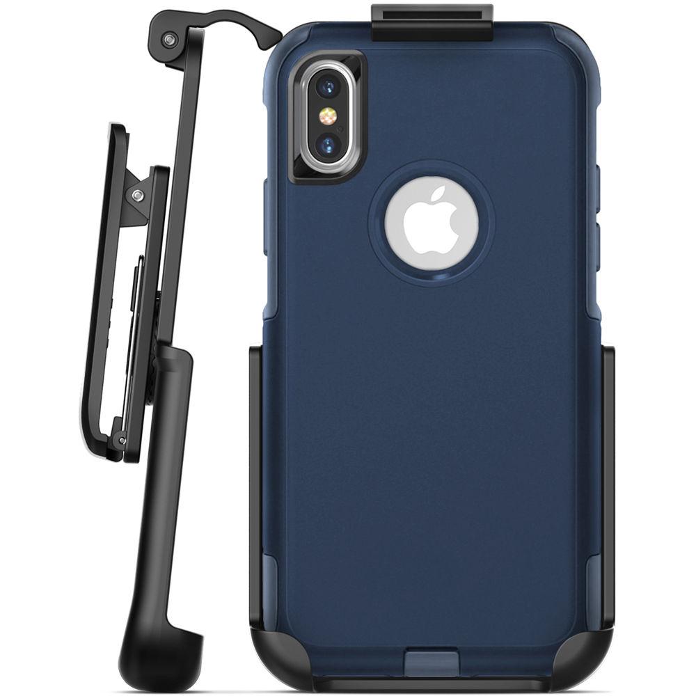 designer fashion a865d 4a942 Encased Belt Clip Holster for iPhone X OtterBox Commuter Case