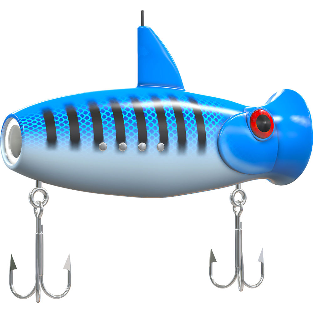 Eco-Net Eco-Popper Video Fishing Lure (Blue Strike)