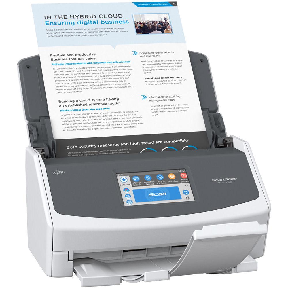 Best Document Scanner 2020.Fujitsu Scansnap Ix1500 Document Scanner White