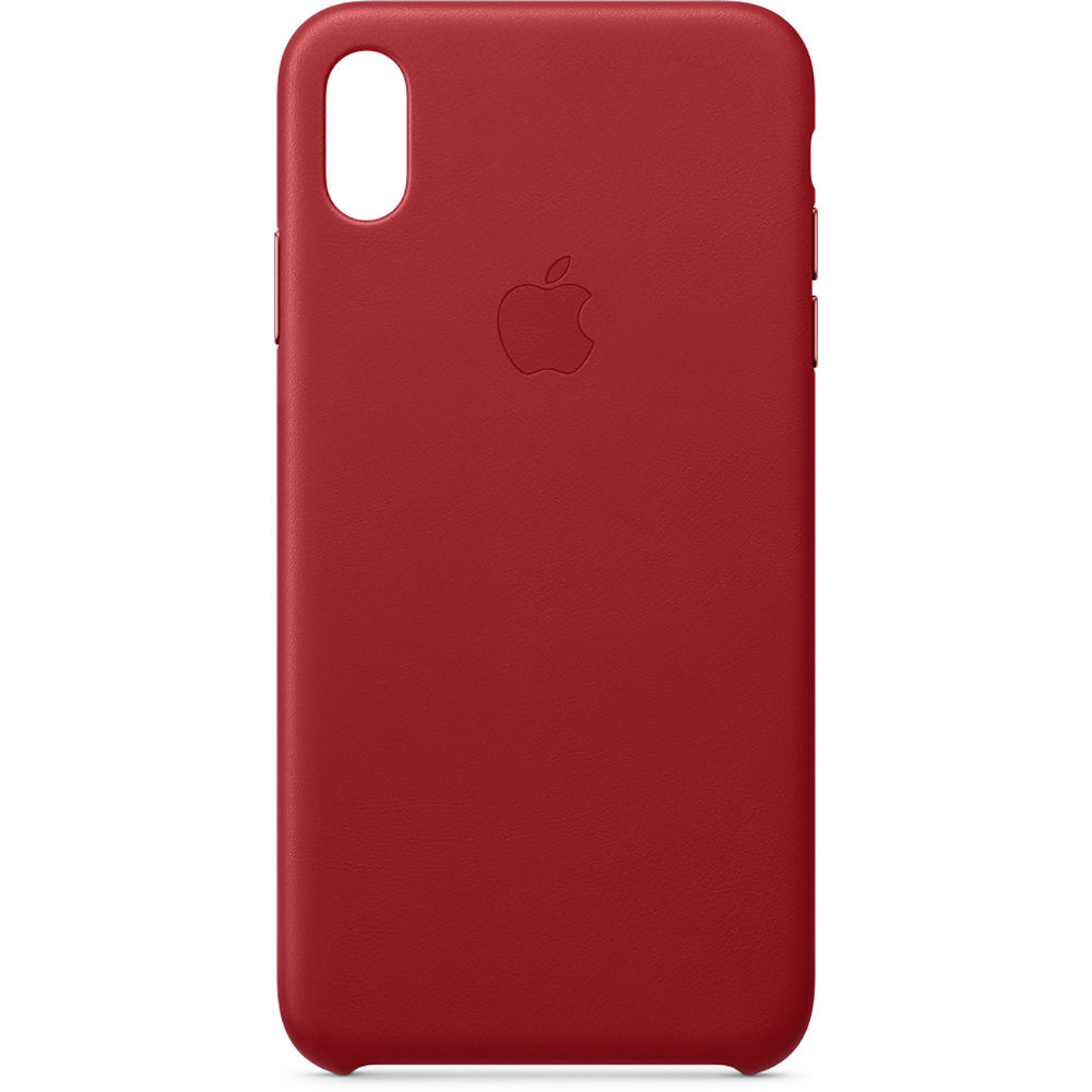 sale retailer 3a799 87841 Apple iPhone Xs Max Leather Case ((PRODUCT) RED)