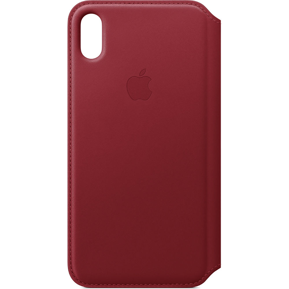 newest 7d2ec b9179 Apple iPhone Xs Max Leather Folio Case ((PRODUCT) RED)