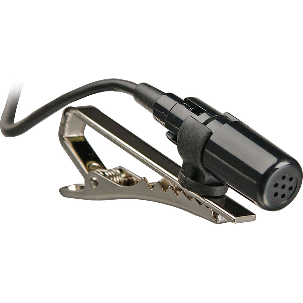 Tie clip microphone for tape recorders