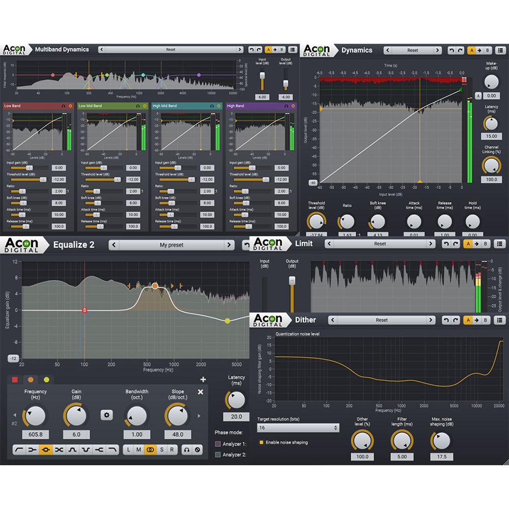 Acon Digital Mastering Suite Plug-Ins (Download) 11-30332 B&H