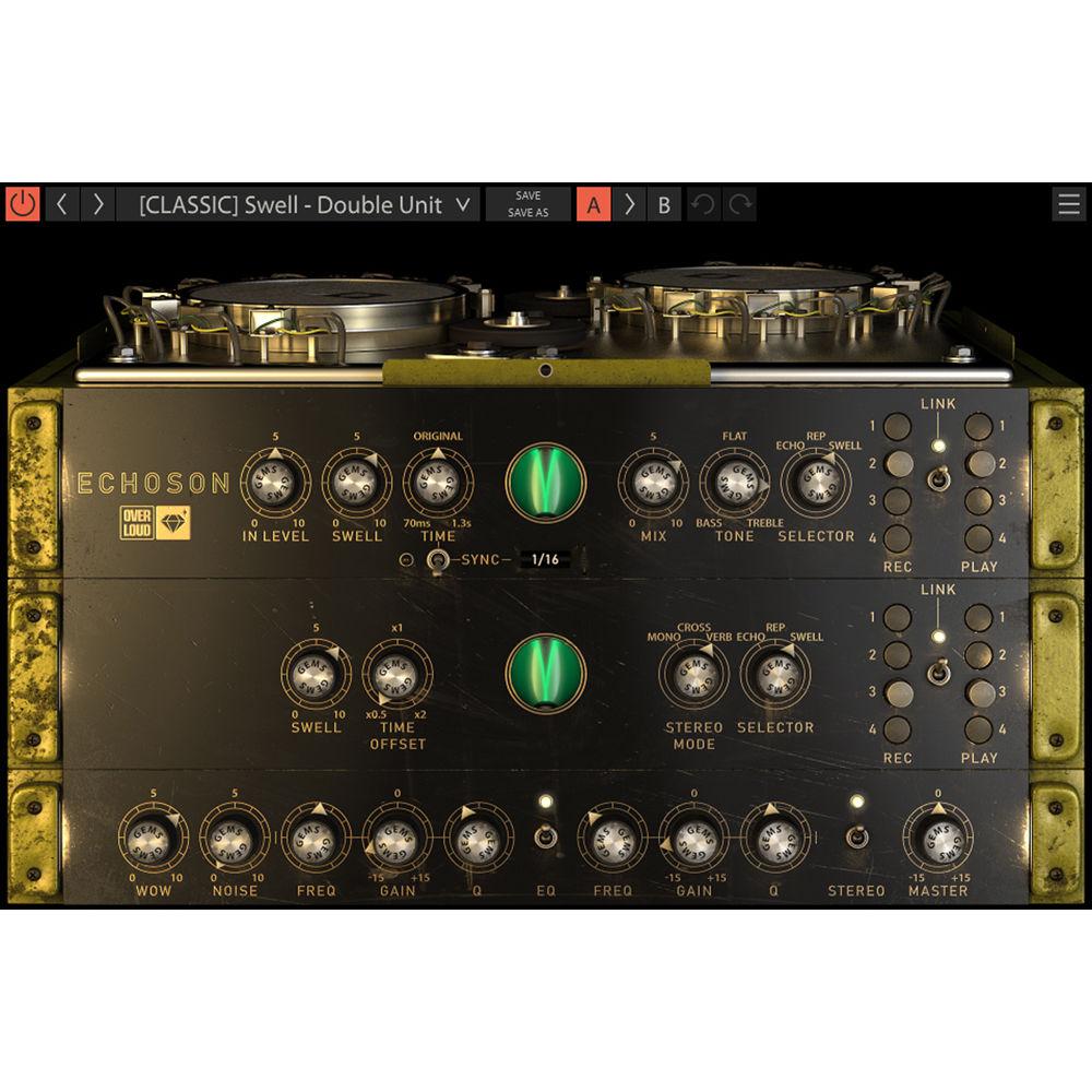Overloud ECHOSON - Gem Series Magnetic Drum Delay OLDL-ECHO B&H