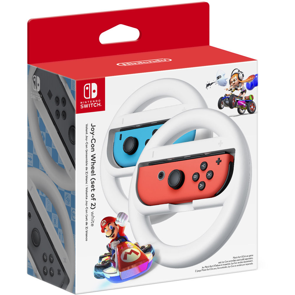 Nintendo Joy Con Wheel 2 Pack White