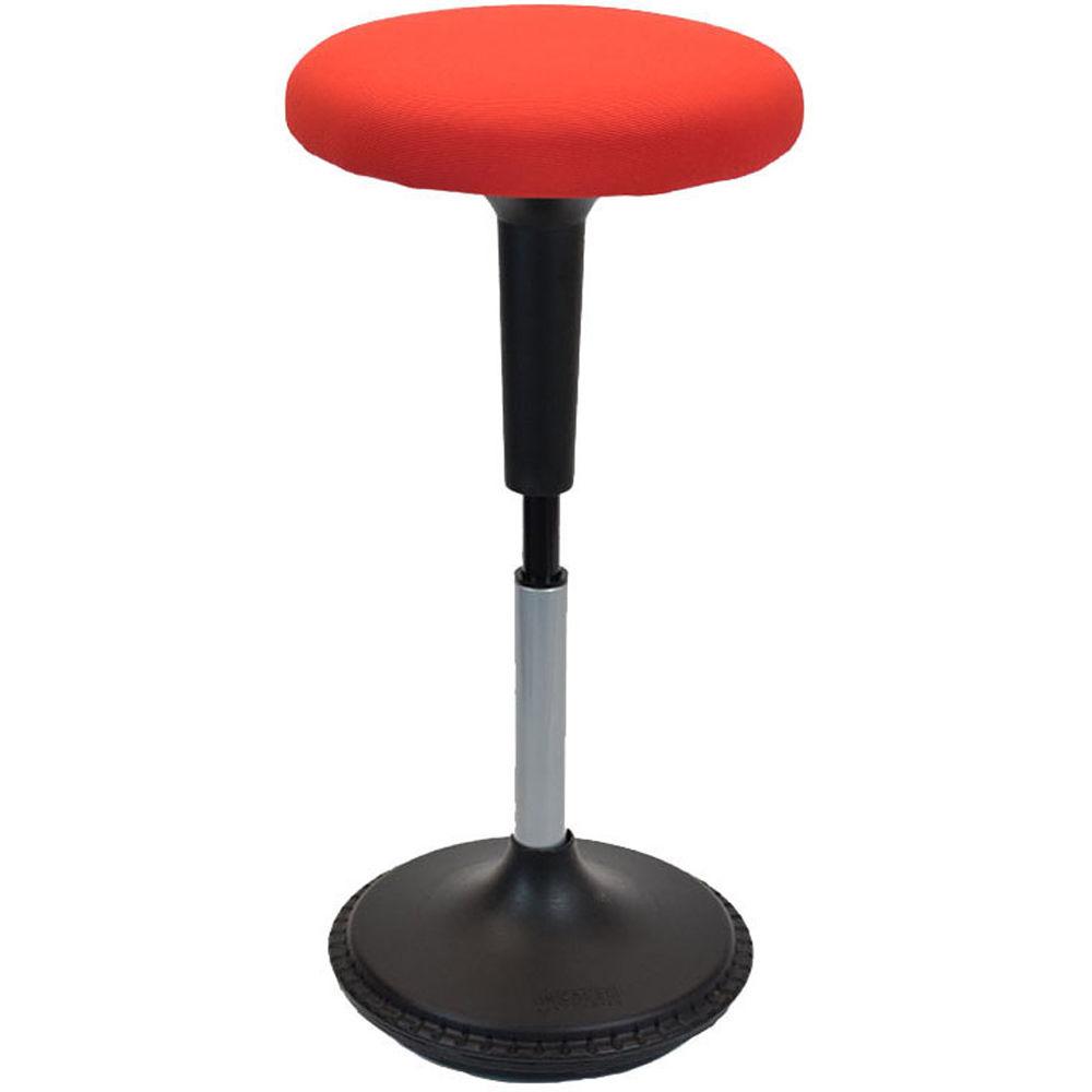 Awe Inspiring Uncaged Ergonomics Wobble Stool With Round Seat Red Fabric Uwap Interior Chair Design Uwaporg