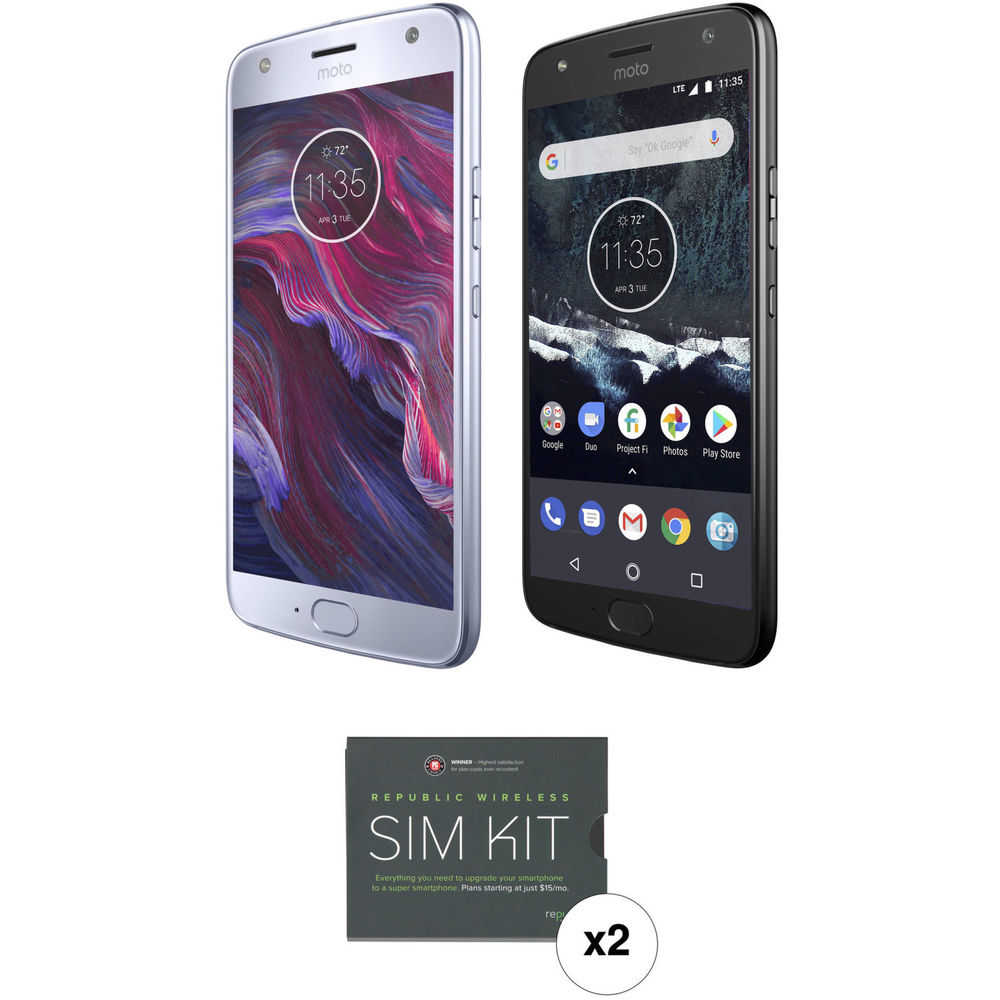 Moto X4 64GB & 32GB Smartphones with Two GSM SIM Kits (Unlocked, Android  One)
