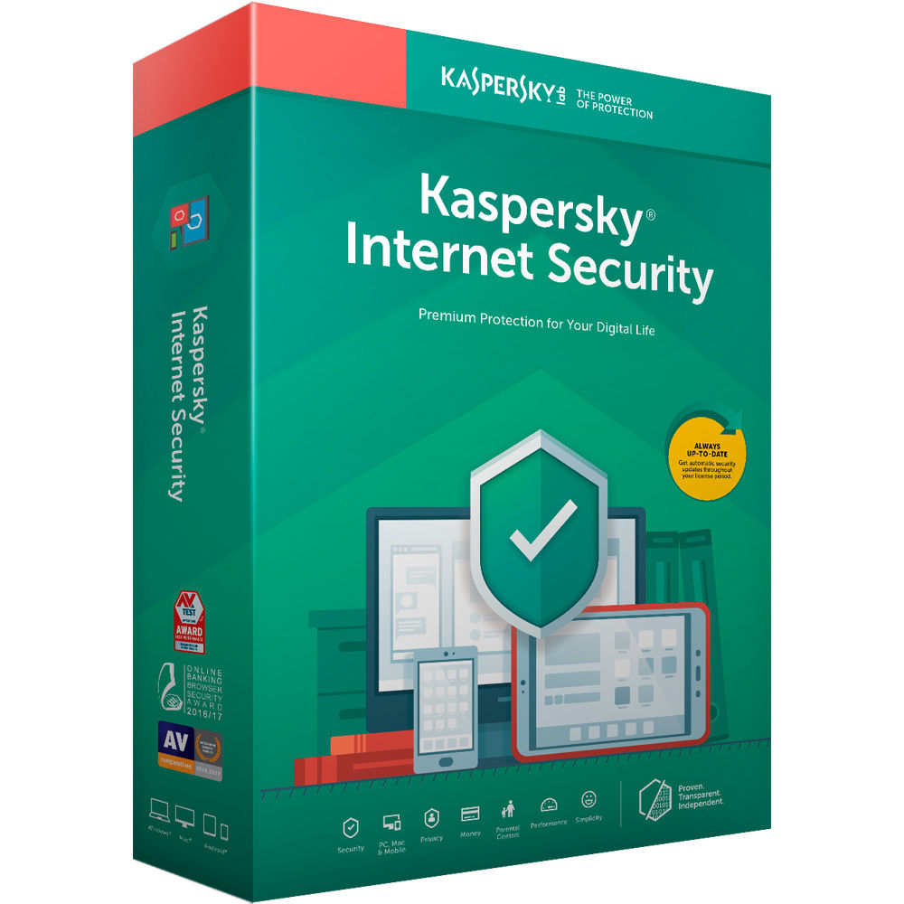 Kaspersky Internet Security 2019 (1 Device, 1-Year License, Key Card Code)