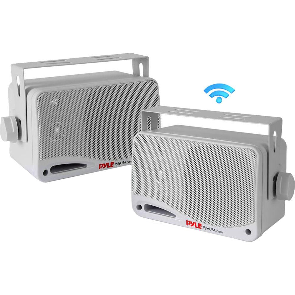 """3-Way Indoor//Outdoor Speaker System 200 Watt Pyle 3.5"""" Bluetooth Home Speakers"""