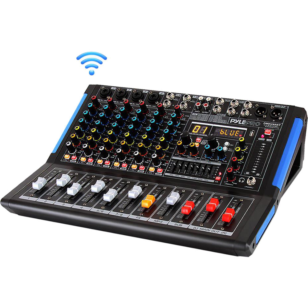 Pyle Pro 4-Channel Bluetooth Studio Mixer and DJ Controller Audio Mixing  Console System