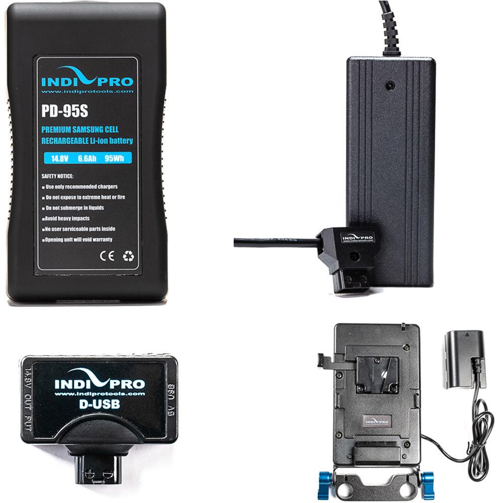 Indipro Tools 95wh V Mount Battery Kit For Blackmagic Bmp4kt1