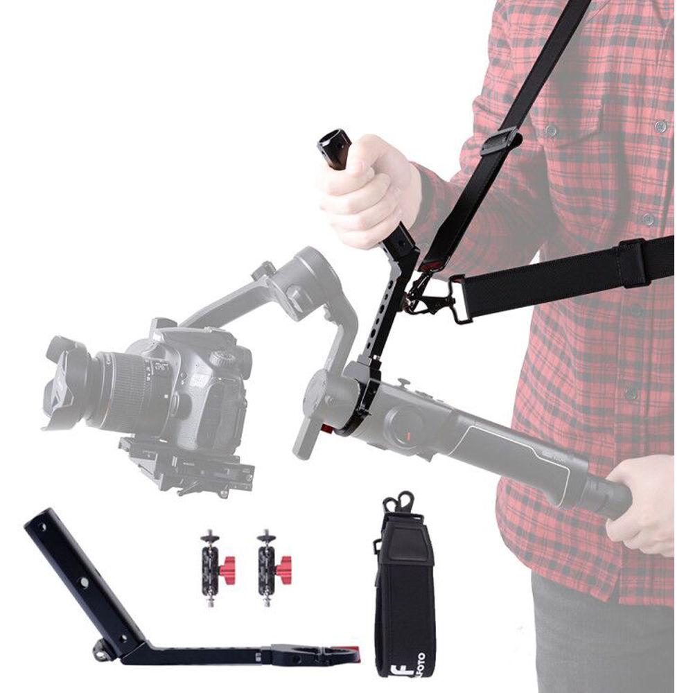 DF DIGITALFOTO Terminator Hang Strap Mounting Clamp Accessories Compatible with Moza Air 2 and Crane 2 Gimbal Making It Like ZHIYUN WEEBILL LAB Crane 3 Setup Desgin