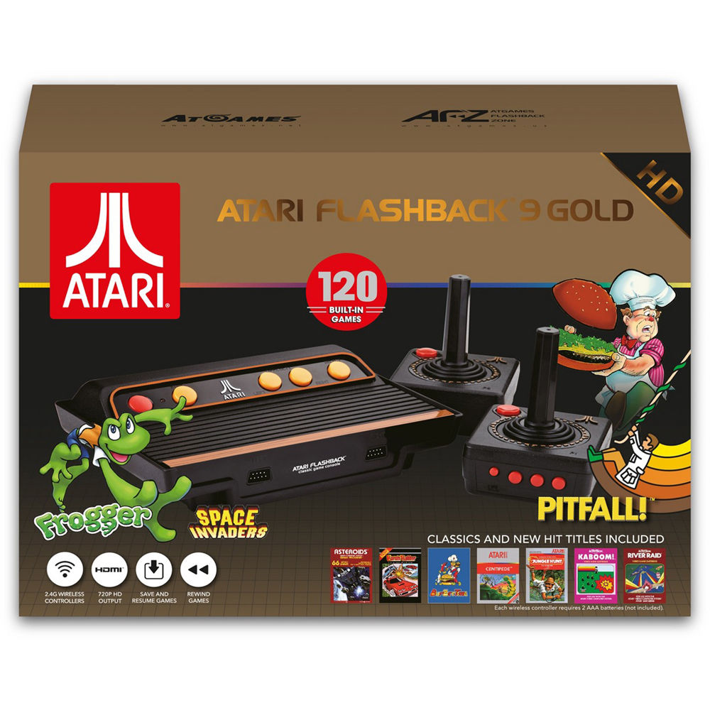 Atari Flashback 8 Gold Hd Classic Game Console 120 Built In