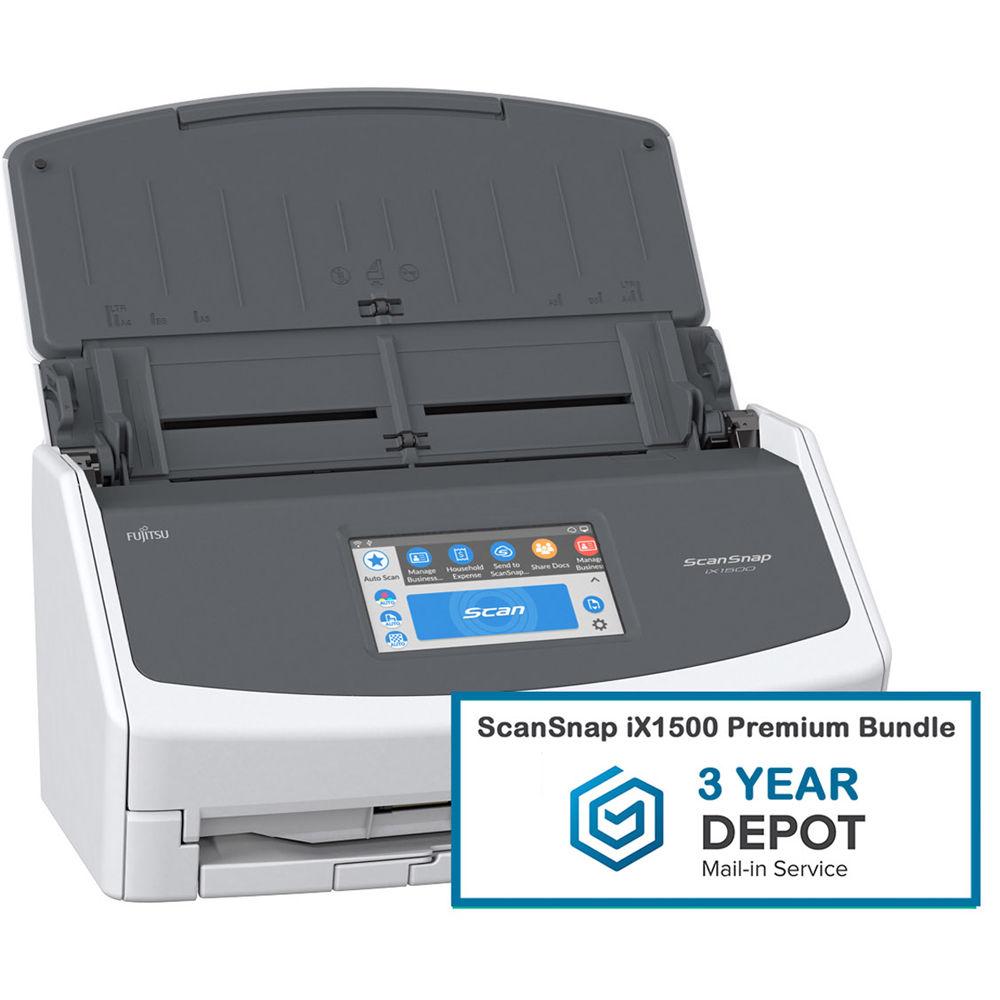 Fujitsu ScanSnap iX1500 Document Scanner Premium Bundle