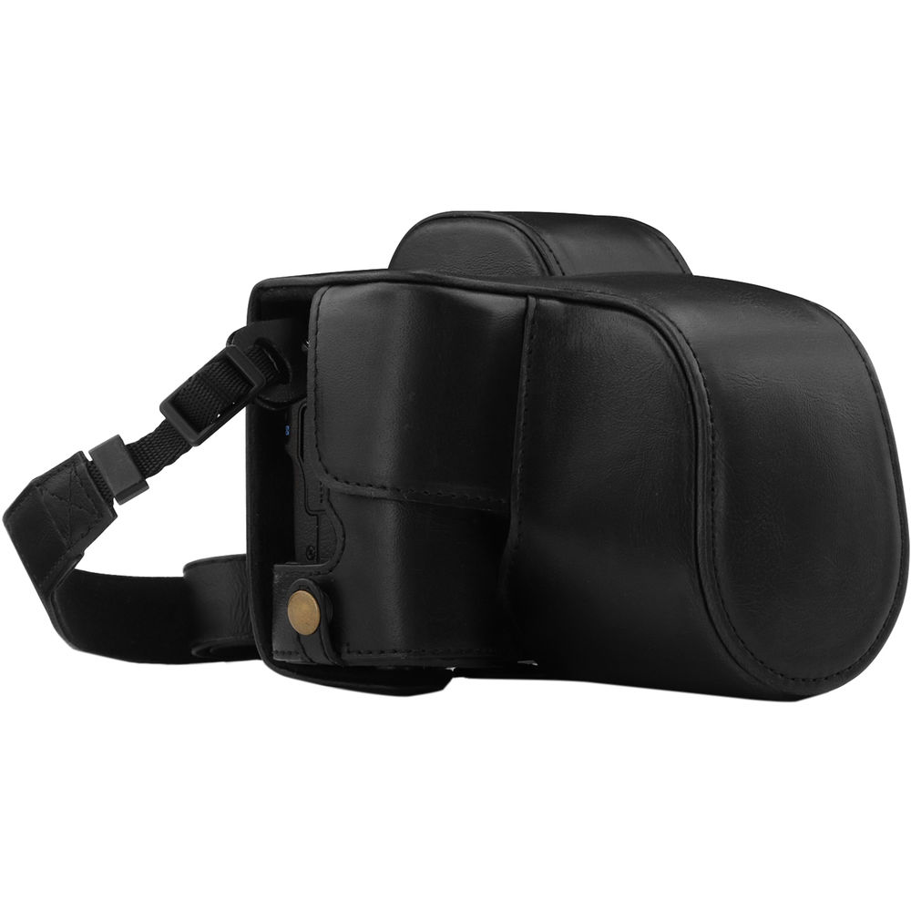 Color : Coffee Perfect Home Convenience Durable Full Body Camera PU Leather Case Bag with Strap for Canon EOS M10 Durable