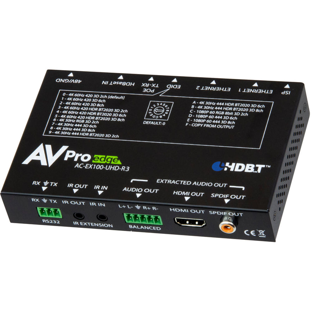 AVPro Edge VGA/HDMI over HDBaseT Wall Plate Extender Kit (330')